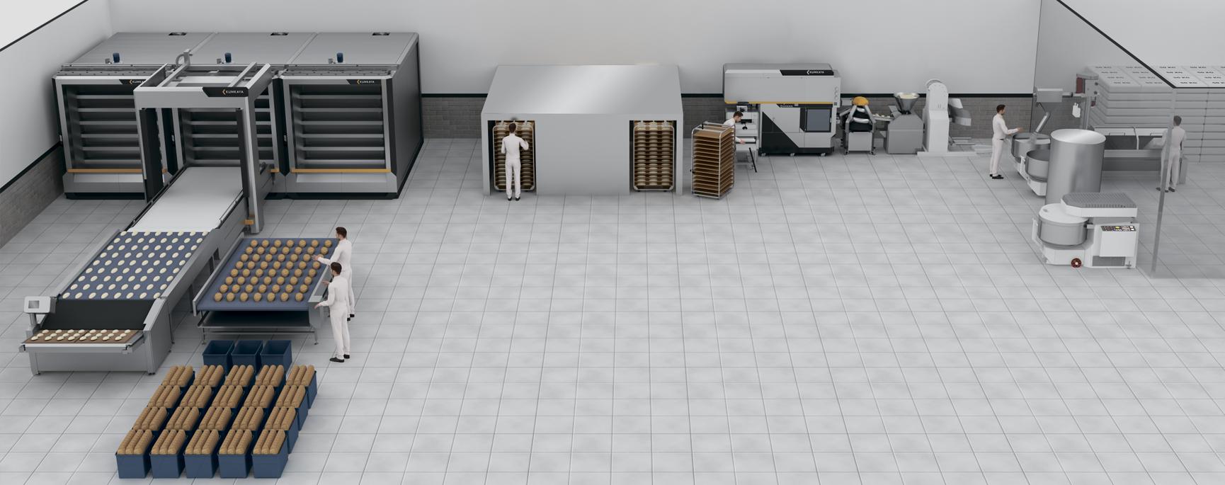 Технологічна пекарська лінія