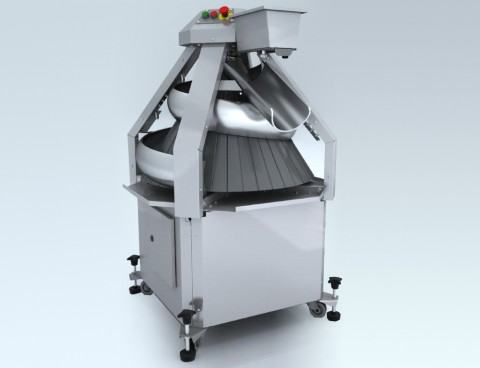 The dough rounder with stationary trenches of CM3000