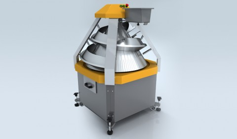 The dough rounder with adjustable trenches of CM3100