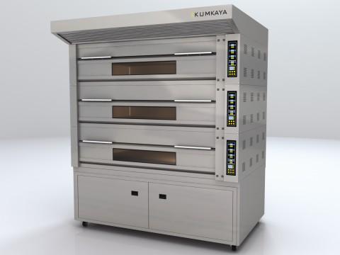 Подова модульна піч GF3050 (3 яруси – газова)