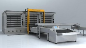 The automatic hearth OT270 baking transfer line (6 Tier – Triple, 81 m2 the area of pastries)